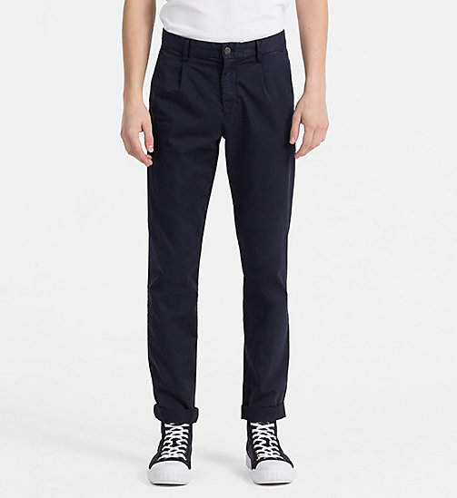CALVIN KLEIN JEANS Regular Chino Trousers - NIGHT SKY - CALVIN KLEIN JEANS NEW IN - main image