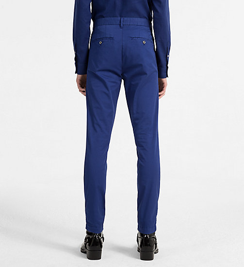 CALVIN KLEIN JEANS Regular Chino Trousers - BLUE DEPTHS - CALVIN KLEIN JEANS CLOTHES - detail image 1