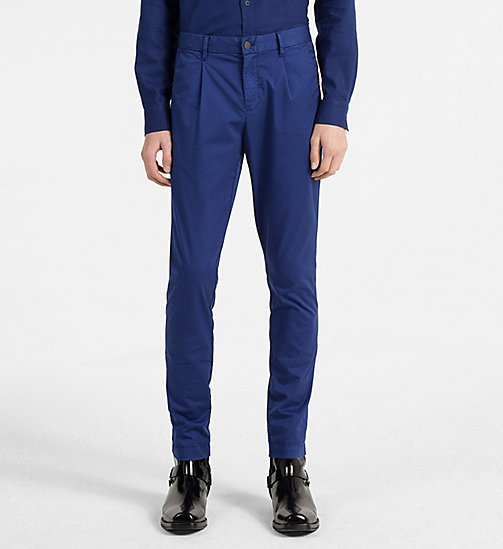 CALVIN KLEIN JEANS Regular Chino Trousers - BLUE DEPTHS - CALVIN KLEIN JEANS CLOTHES - main image
