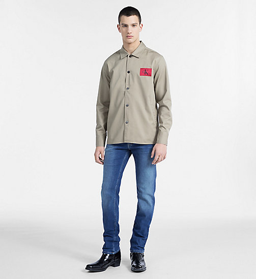CALVIN KLEIN JEANS Cotton Blend Twill Shirt Jacket - CORIANDER - CALVIN KLEIN JEANS CLOTHES - detail image 1