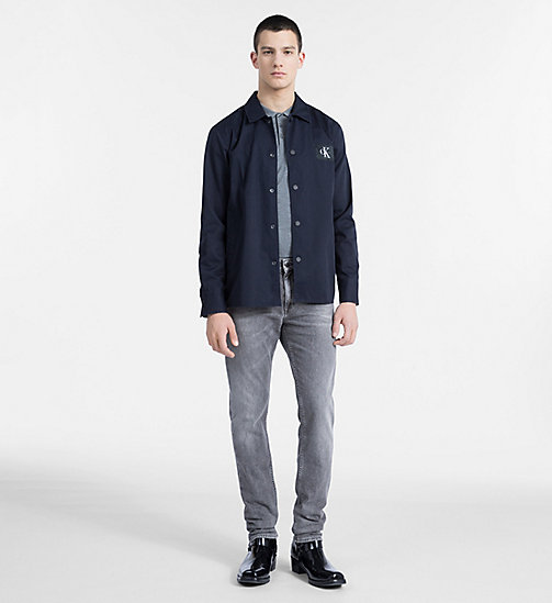 CALVIN KLEIN JEANS Cotton Blend Twill Shirt Jacket - NIGHT SKY - CALVIN KLEIN JEANS #MYCALVINS MEN - detail image 1