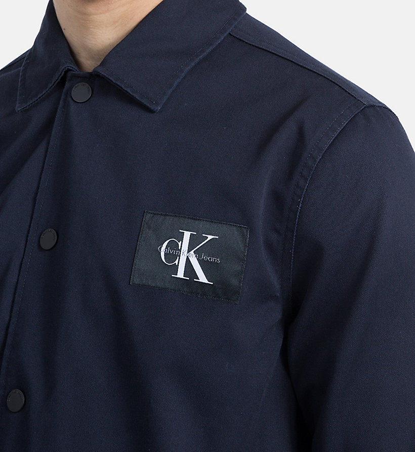 CALVIN KLEIN JEANS Cotton Blend Twill Shirt Jacket - CORIANDER - CALVIN KLEIN JEANS MEN - detail image 3