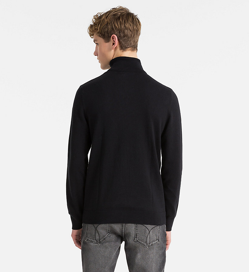 CALVIN KLEIN JEANS Cotton Cashmere Turtleneck Jumper - BRIGHT WHITE - CALVIN KLEIN JEANS MEN - detail image 2
