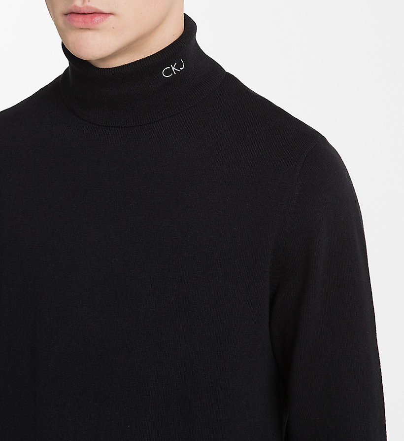 CALVIN KLEIN JEANS Cotton Cashmere Turtleneck Jumper - BRIGHT WHITE - CALVIN KLEIN JEANS MEN - detail image 3