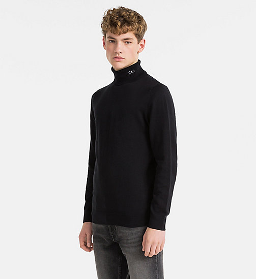 CALVIN KLEIN JEANS Cotton Cashmere Turtleneck Jumper - CK BLACK - CALVIN KLEIN JEANS CLOTHES - main image