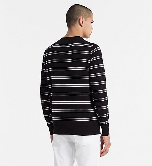 CALVIN KLEIN JEANS Cotton Stripe Jumper - CK BLACK - CALVIN KLEIN JEANS CLOTHES - detail image 1