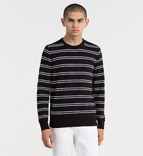 CALVIN KLEIN JEANS Cotton Stripe Jumper - CK BLACK - CALVIN KLEIN JEANS CLOTHES - main image