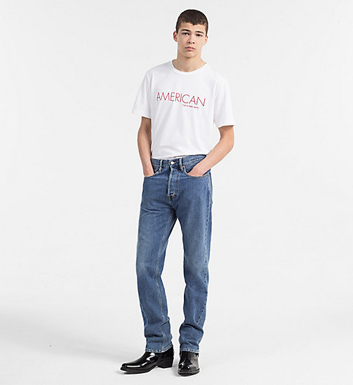 CALVIN KLEIN JEANS Embroidered Logo T-shirt - BRIGHT WHITE - CALVIN KLEIN JEANS NEW IN - detail image 1