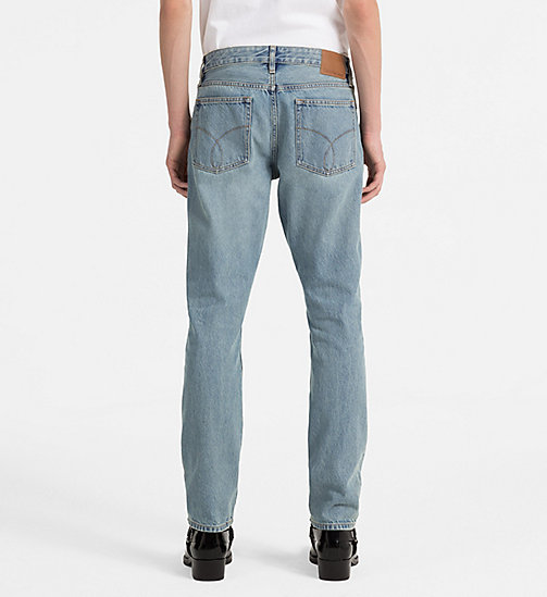 CALVIN KLEIN JEANS Slim Straight-Jeans - BOWIE BLUE RGD -  NEW IN - main image 1