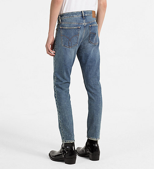 CALVIN KLEIN JEANS Straight Tapered Jeans - ISOLATION BLUE CMF - CALVIN KLEIN JEANS NEW IN - detail image 1