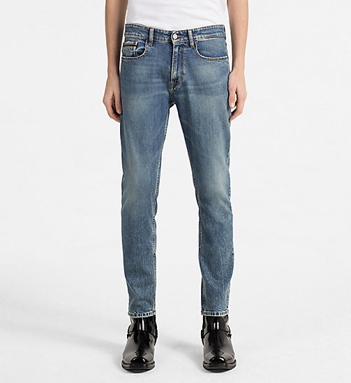 CALVIN KLEIN JEANS Straight Tapered Jeans - ISOLATION BLUE CMF - CALVIN KLEIN JEANS NEW IN - main image
