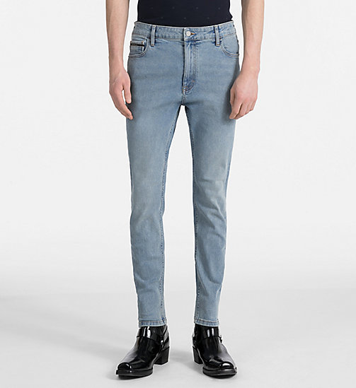 CALVIN KLEIN JEANS Skinny Tapered Jeans - BOWIE BLUE STR - CALVIN KLEIN JEANS CLOTHES - main image