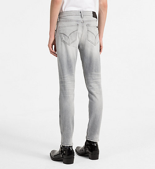 CALVIN KLEIN JEANS Sculpted Slim Jeans - ELECTRONIC GREY DSTR CMF - CALVIN KLEIN JEANS NEW IN - detail image 1