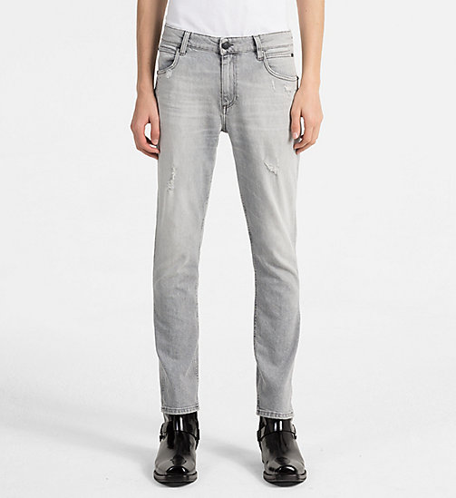 CALVIN KLEIN JEANS Sculpted Slim Jeans - ELECTRONIC GREY DSTR CMF - CALVIN KLEIN JEANS NEW IN - main image