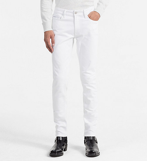 CALVIN KLEIN JEANS Slim Straight Jeans - GREAT WHITE CMF - CALVIN KLEIN JEANS NEW IN - main image