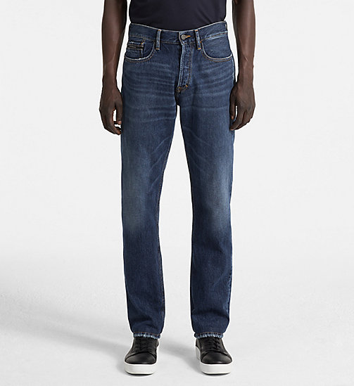 CALVIN KLEIN JEANS Straight Jeans - ICONIC INDIGO RGD - CALVIN KLEIN JEANS CLOTHES - main image