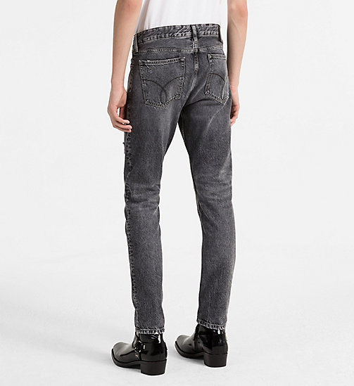 CALVIN KLEIN JEANS Slim Straight Jeans - J DIVISION BLACK DESTRUCTED RGD - CALVIN KLEIN JEANS NEW IN - detail image 1