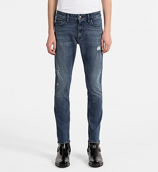 CALVIN KLEIN JEANS Slim Straight Jeans - KEANU BLUE DSTR CMF - CALVIN KLEIN JEANS NEW IN - main image