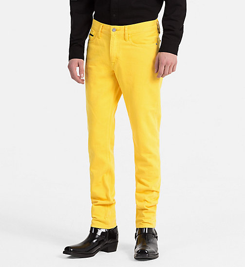 CALVIN KLEIN JEANS Slim Straight Jeans - SPECTRA YELLOW RGD - CALVIN KLEIN JEANS TRUE COLOURS - main image