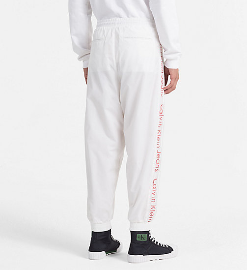 CALVIN KLEIN JEANS Logo Sport Trousers - BRIGHT WHITE -  CLOTHES - detail image 1