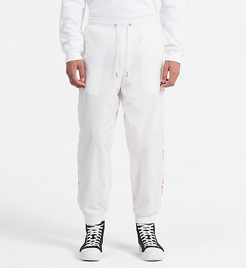 CALVIN KLEIN JEANS Logo Sport Trousers - BRIGHT WHITE -  TRUE COLOURS - main image