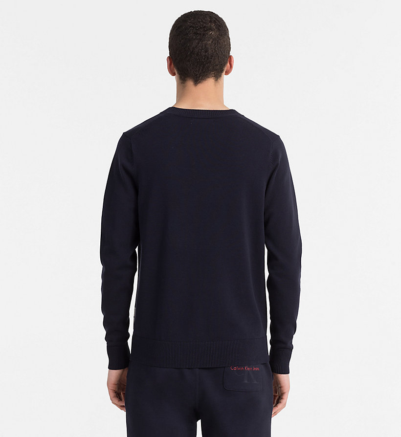 CALVIN KLEIN JEANS Slim Cotton Blend Jumper - TANGO RED - CALVIN KLEIN JEANS MEN - detail image 2