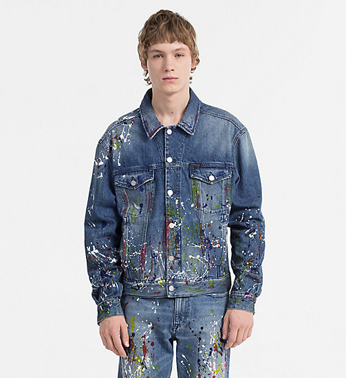 NEW CALVIN KLEIN JEANS Paint Splatter Denim Jacket - ARTIST BLUE - CALVIN  KLEIN JEANS #MYCALVINS ...