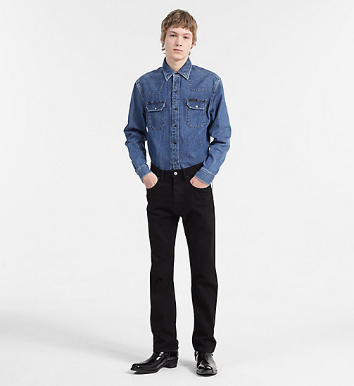 CALVIN KLEIN JEANS Western Denim Shirt - DISORDER BLUE RGD - CALVIN KLEIN JEANS CLOTHES - detail image 1