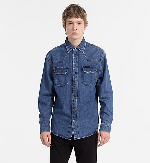 CALVIN KLEIN JEANS Western Denim Shirt - DISORDER BLUE RGD -  CLOTHES - main image