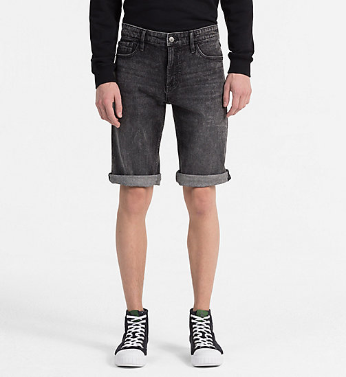 CALVIN KLEIN JEANS Slim Denim Shorts - CURTIS BLACK CMF - CALVIN KLEIN JEANS CLOTHES - main image