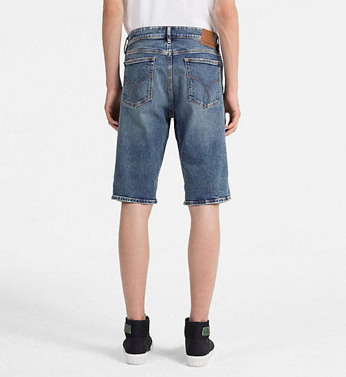 CALVIN KLEIN JEANS Slim Denim Shorts - ISOLATION BLUE CMF - CALVIN KLEIN JEANS NEW IN - detail image 1