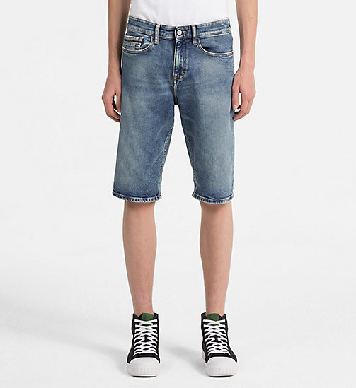 CALVIN KLEIN JEANS Slim Denim Shorts - ISOLATION BLUE CMF - CALVIN KLEIN JEANS CLOTHES - main image