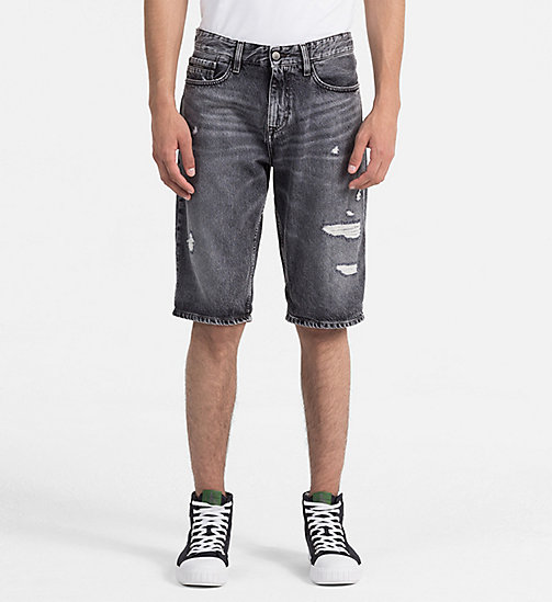 CALVIN KLEIN JEANS Denim-Shorts mit destroyed Effekt - J DIVISION BLACK DSTR RGD - CALVIN KLEIN JEANS NEW IN - main image