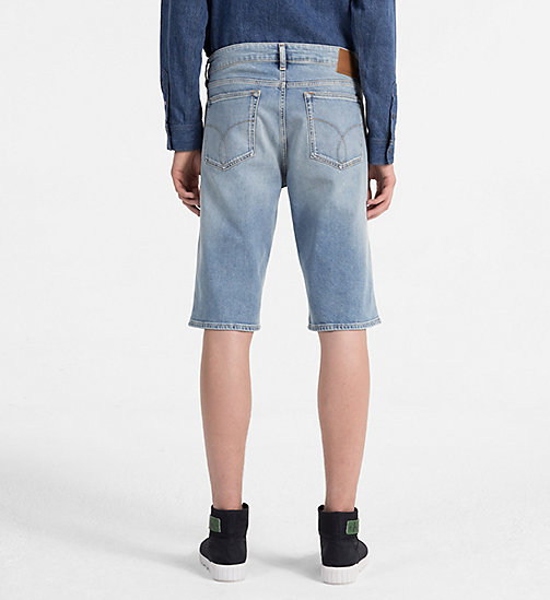 CALVIN KLEIN JEANS Slim Denim Shorts - ROXY BLUE CMF - CALVIN KLEIN JEANS NEW IN - detail image 1