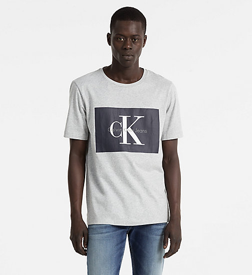 CALVIN KLEIN JEANS T-shirt met logo - LIGHT GREY HEATHER - CALVIN KLEIN JEANS LOGO SHOP - main image