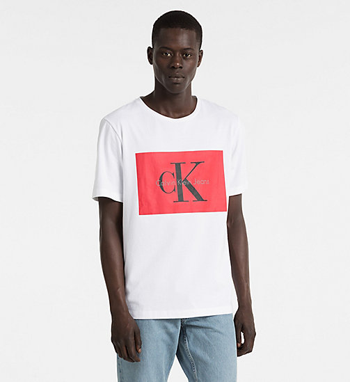 CALVIN KLEIN JEANS Logo T-shirt - BRIGHT WHITE - CALVIN KLEIN JEANS TRUE COLOURS - main image