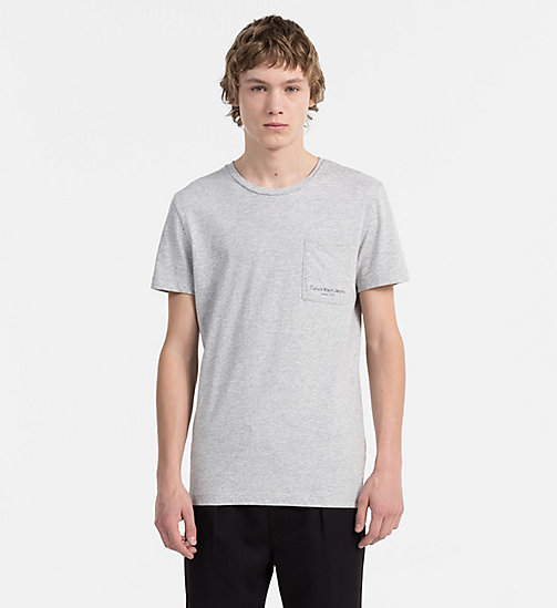 CALVIN KLEIN JEANS Organic Cotton T-shirt - LIGHT GREY HEATHER - CALVIN KLEIN JEANS NEW IN - main image