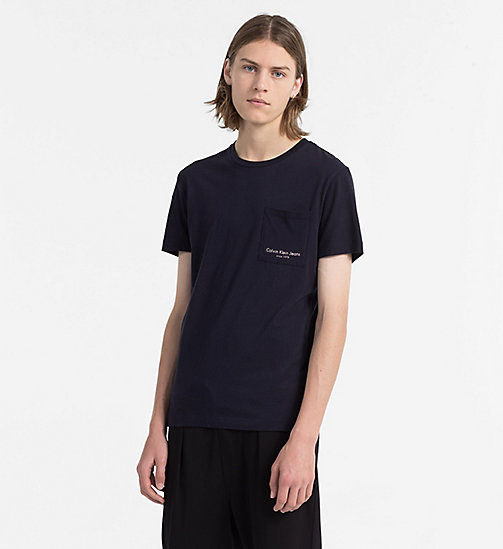CALVIN KLEIN JEANS Slim Organic Cotton T-shirt - NIGHT SKY - CALVIN KLEIN JEANS CLOTHES - main image