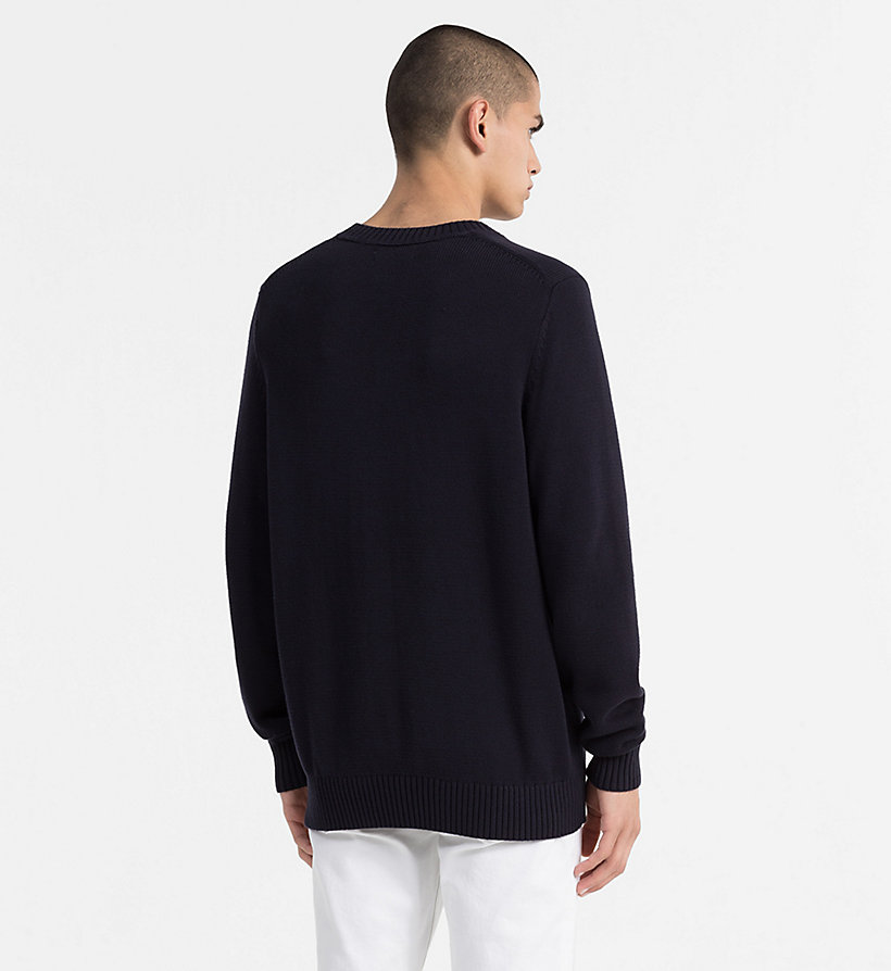 CALVIN KLEIN JEANS Regular Cotton Jumper - CK BLACK - CALVIN KLEIN JEANS MEN - detail image 2