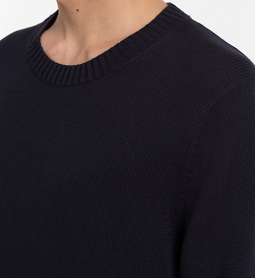CALVIN KLEIN JEANS Regular Cotton Jumper - CK BLACK - CALVIN KLEIN JEANS MEN - detail image 3