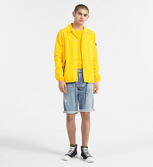 CALVIN KLEIN JEANS Regular Cotton Jumper - SPECTRA YELLOW - CALVIN KLEIN JEANS CLOTHES - detail image 1