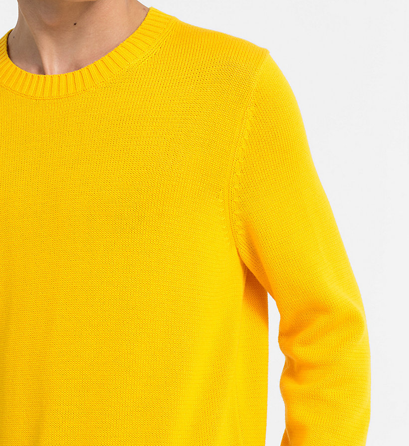 CALVIN KLEIN JEANS Regular Cotton Jumper - BRIGHT WHITE - CALVIN KLEIN JEANS MEN - detail image 3