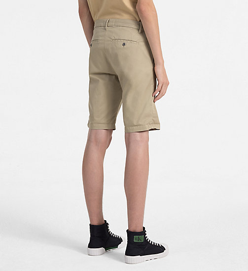 CALVIN KLEIN JEANS Stretch Twill Chino Shorts - PLAZA TAUPE - CALVIN KLEIN JEANS NEW IN - detail image 1