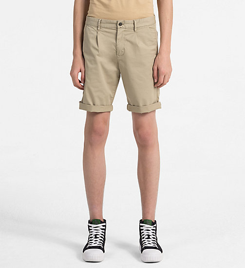 CALVIN KLEIN JEANS Stretch Twill Chino Shorts - PLAZA TAUPE - CALVIN KLEIN JEANS CLOTHES - main image