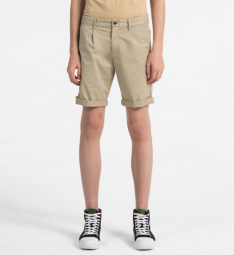 CALVIN KLEIN JEANS Stretch Twill Chino Shorts - TANGO RED - CALVIN KLEIN JEANS MEN - main image