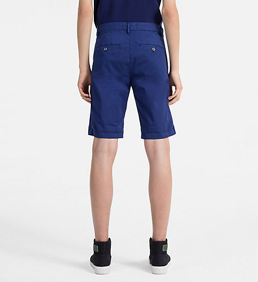 CALVIN KLEIN JEANS Stretch Twill Chino Shorts - BLUE DEPTHS - CALVIN KLEIN JEANS CLOTHES - detail image 1