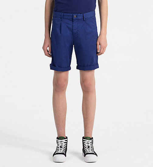 CALVIN KLEIN JEANS Stretch Twill Chino Shorts - BLUE DEPTHS - CALVIN KLEIN JEANS NEW IN - main image