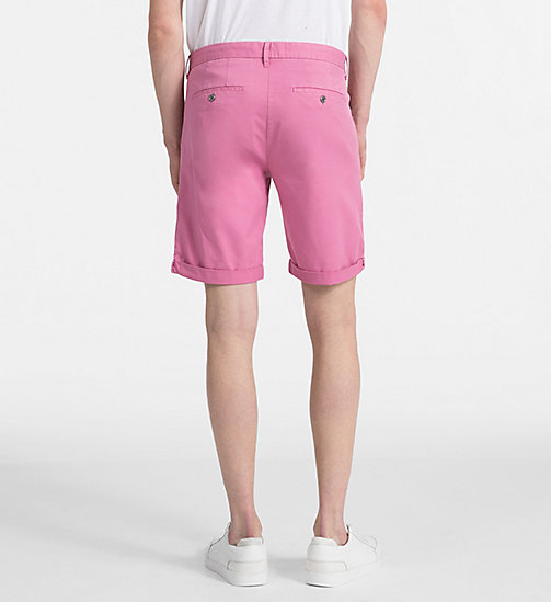 CALVIN KLEIN JEANS Stretch Twill Chino Shorts - WILD ORCHID - CALVIN KLEIN JEANS NEW IN - detail image 1