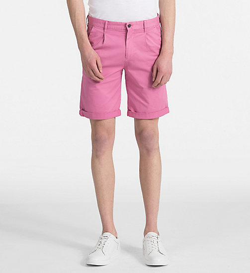 CALVIN KLEIN JEANS Stretch Twill Chino Shorts - WILD ORCHID - CALVIN KLEIN JEANS NEW IN - main image