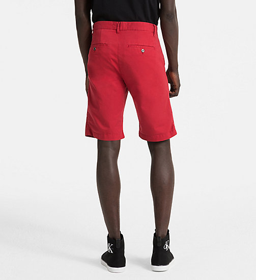 CALVIN KLEIN JEANS Stretch Twill Chino Shorts - TANGO RED - CALVIN KLEIN JEANS CLOTHES - detail image 1